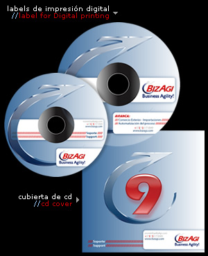 label de impresión digital // cd for digital printing